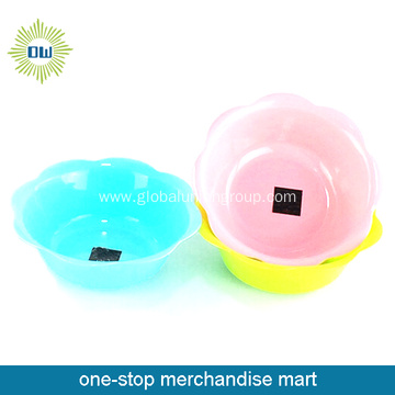 Flower Shaped Plastic Fruit Bowl